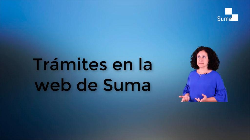 Qué trámites en abierto se pueden hacer en la web de Suma