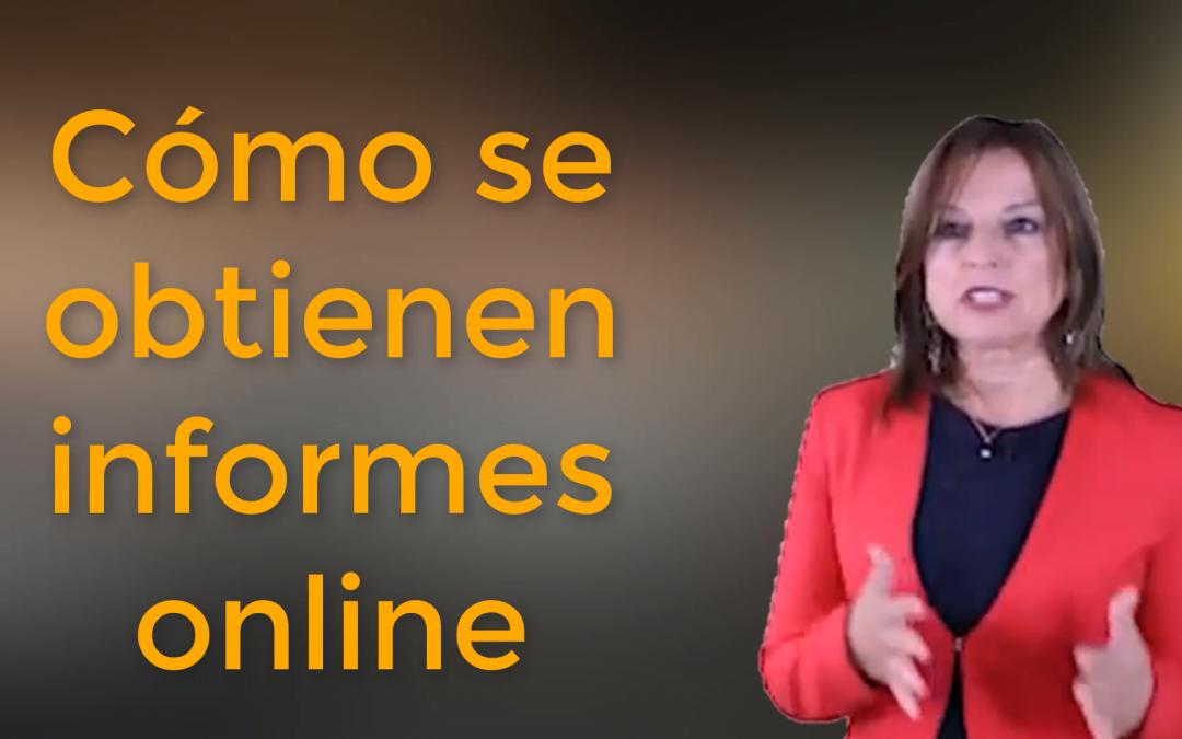 Cómo obtener un informe online en la web de Suma