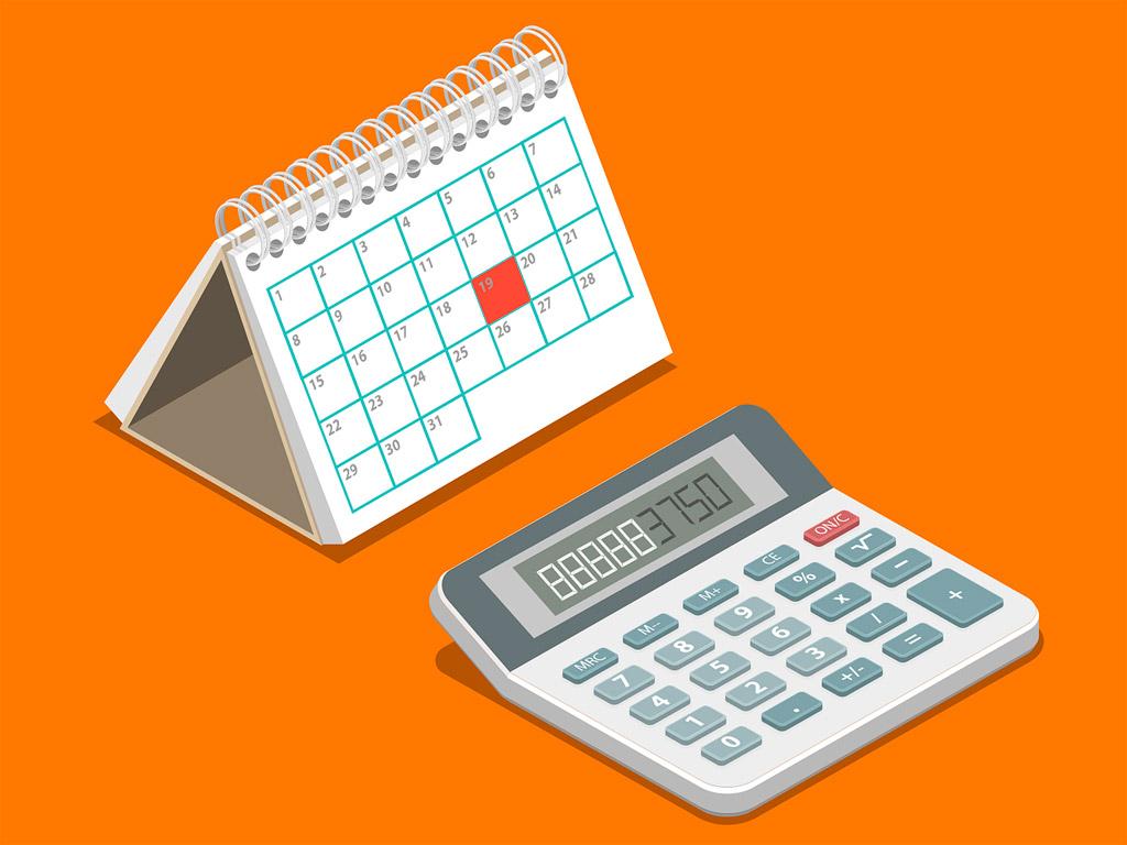 calendario y calculadora