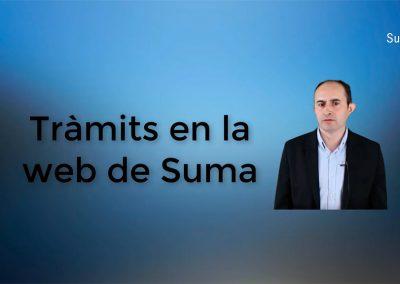 Quins tràmits en obert es poden fer en la web de Suma