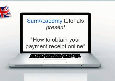 How to obtain your payment receipt online