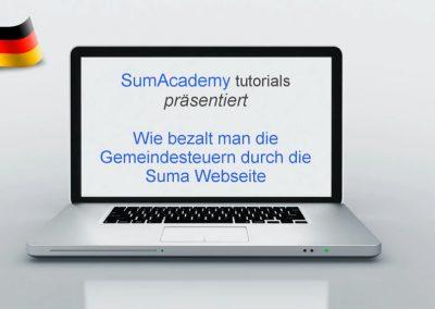 Wie bezahlt man die Gemeindesteuern durch die Suma Webseite