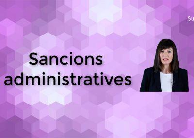 Què són les sancions administratives