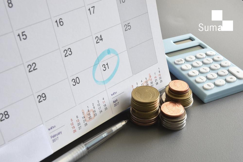 Un calendario con una fecha marcada