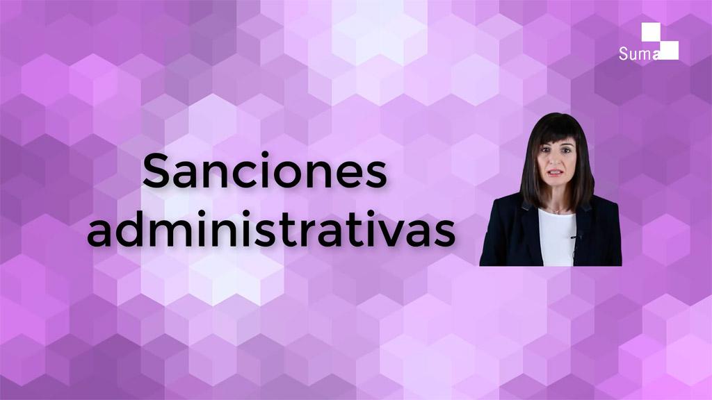 Qué son las sanciones administrativas