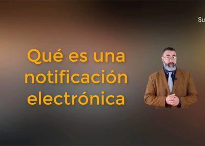 En qué consiste la notificación electrónica