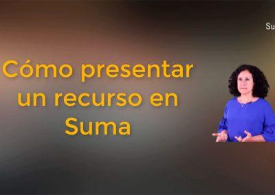 Cómo presentar un recurso en Suma