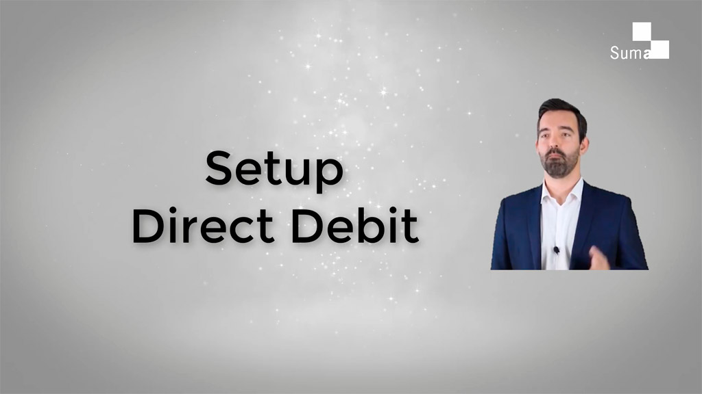 Tutorial on how to setup a direct debit in Suma
