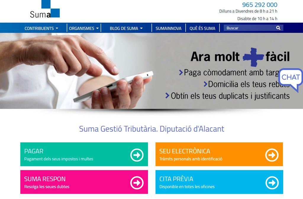 Què es pot fer en el web de Suma