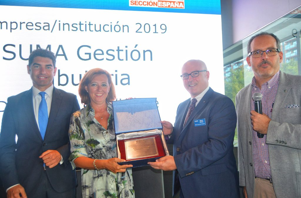 Suma recibe el premio del IEEE a la Institución-Empresa del año 2019 por su proceso de transformación digital